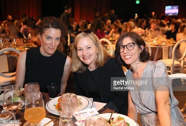 Creator Liz Flahive Netlfix VP of Originals Series Jane Weiseman and GLOW Creator Carly Mensch attend the Rebels and Rule Breakers Panel at Netflix...