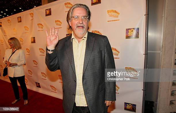 Creator Matt Groening attends the premiere of Futurama 'Bender's Big Score' at the Cinerama Dome on November 15 2007 in Los Angeles California