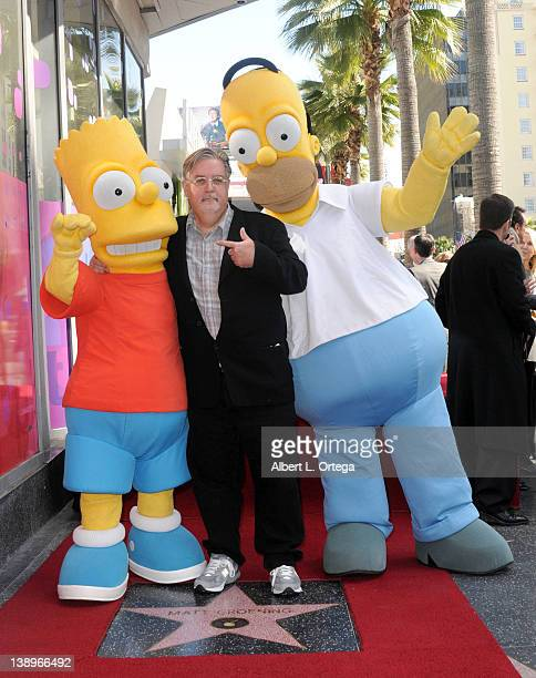 Creator Matt Groening of The Simpsons is honored on The Hollywood Walk of Fame on February 14 2012 in Hollywood California