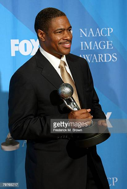 Creator of Everybody Hates Chris Ali LeRoi poses in the press room at the 39th NAACP Image Awards held at the Shrine Auditorium on February 14 2008...