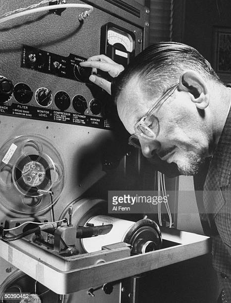 Creator of machine that makes voice prints Lawrence E Kersta developed by Bell telephone company