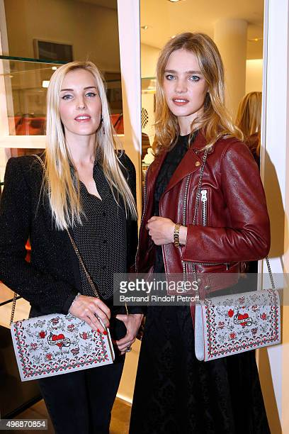 Creator of 'Preciously Paris' Carole Tessier and Founder of 'Naked Heart Foundation' Model Natalia Vodianova attend the 'Preciously Paris Bag'...