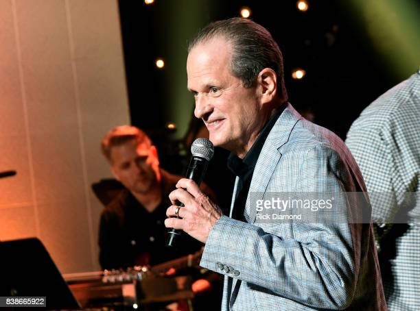Creator of Skyville Live Wally Wilson speaks onstage during Skyville Live Presents a Tribute to Jerry Lee Lewis on August 24 2017 in Nashville...