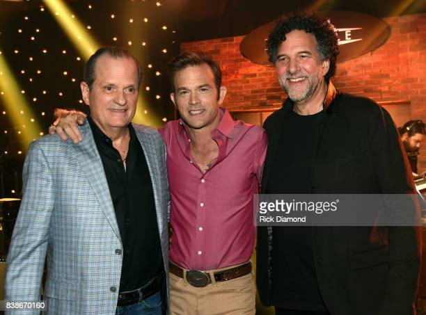 Creator of Skyville Live Wally Wilson Waylon Payne and Mickey Raphael attend Skyville Live Presents a Tribute to Jerry Lee Lewis on August 24 2017 in...