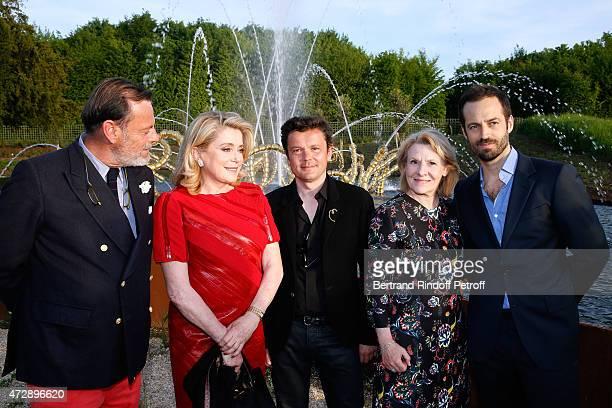 Creator of the Bosquet du Theatre d'eau Louis Benech Actress Catherine Deneuve President of the Versailles Castle Catherine Pegard Contemporary...