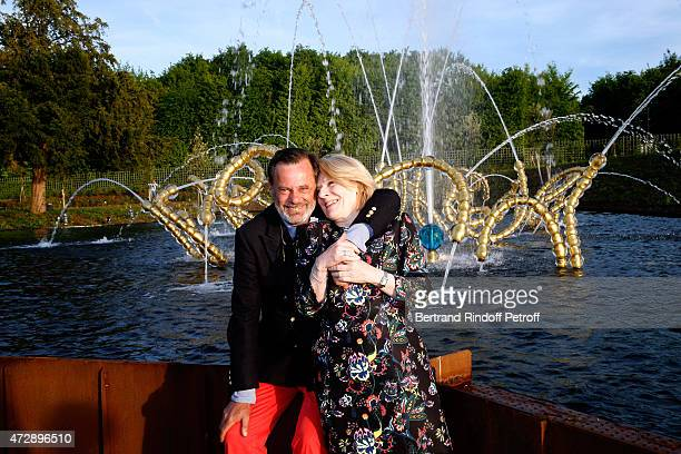 Creator of the Bosquet du Theatre d'eau Louis Benech and President of the Versailles Castle Catherine Pegard attend the Inauguration of the Bosquet...