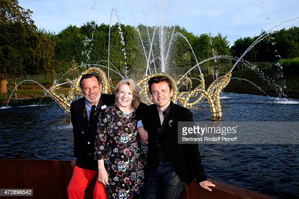 Creator of the Bosquet du Theatre d'eau Louis Benech President of the Versailles Castle Catherine Pegard and Contemporary Artist and Sculptor of...