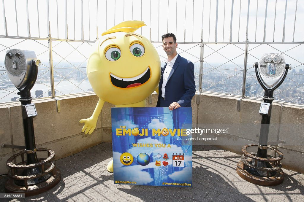 "Cast From ""The Emoji Movie"" Celebrates World Emoji Day At Empire State Building"