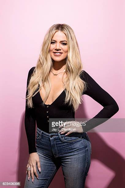 Creator of the 'Good American' denim line and TV personality Khloe Kardashian is photographed for Los Angeles Times on November 12 2016 in Los...