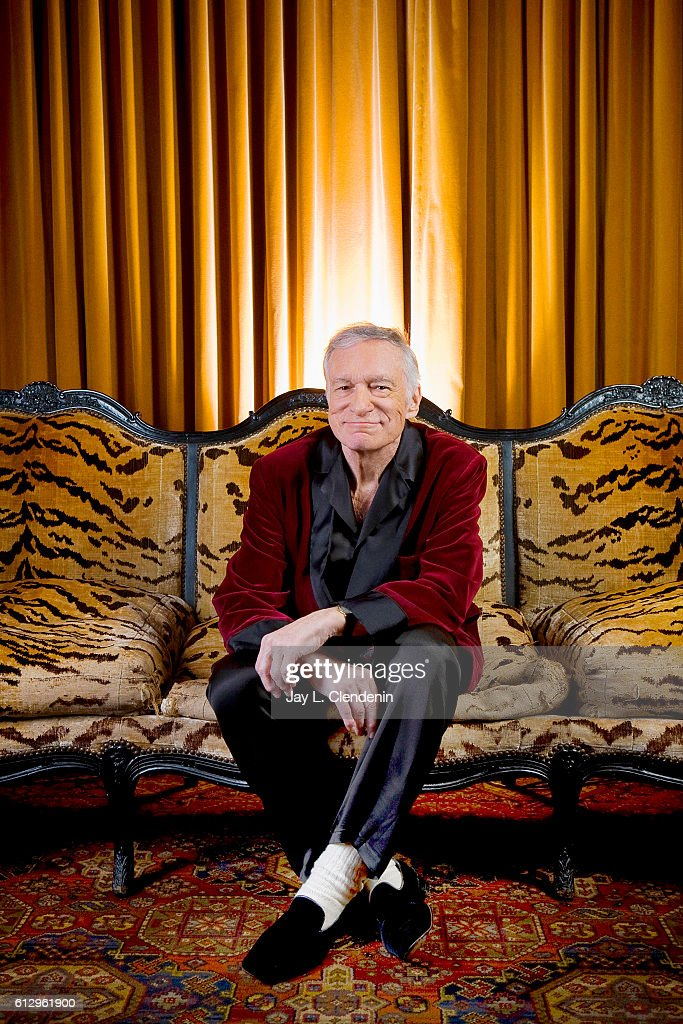 Creator of the Playboy empire Hugh Hefner is photographed for Los Angeles Times on March 26, 2009 in Los Angeles, California. PUBLISHED IMAGE.