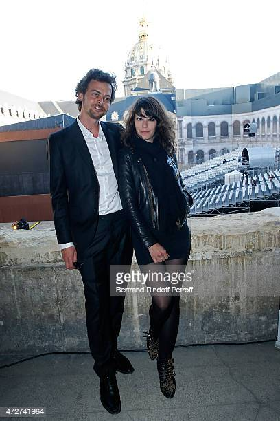 Creator of the show Antonin Le Guay and Stage Director of the show Manon Savary attend the 'Ami entends tu ' Show performed at The Invalides on May 8...
