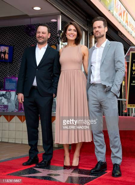 Creator of 'This is Us' Dan Fogelman Actors Mandy Moore and Shane West attend a ceremony honoring Mandy Moore with a star on The Hollywood Walk of...