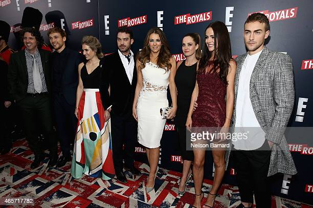 Creator producer and writer of The Royals Mark Schwahn and actors William Moseley Sophie Colquhoun Jake Maskall Elizabeth Hurley Merritt Patterson...