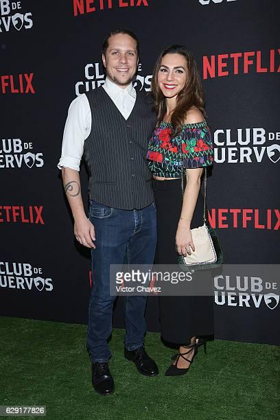 Creator showrunner and director Gaz Alazraki and his wife Vivian Alazraki attend the Netflix Club De Cuervos Season 2 launch party at Cinemex...