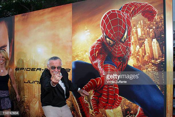 Creator Stan Lee attending the premiere of Spiderman 2 at Mann's Village Theatre in Westwood California 6/22/04