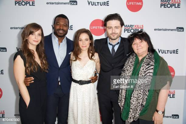 Creator Tara Armstrong actor Lyriq Bent actress Caroline Dhavernas actor Richard Short and CoExectutive Producer Holly Dale attend the screening of...