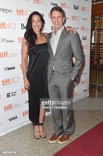 Creator Tim Kring and Lisa Kring attend the Heroes Reborn premiere during the 2015 Toronto International Film Festival at the Winter Garden Theatre...