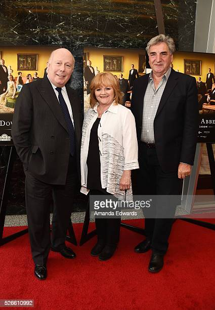 Creator writer and executive producer Julian Fellowes actress Lesley Nicol and actor Jim Carter attend the Downton Abbey For Your Consideration event...