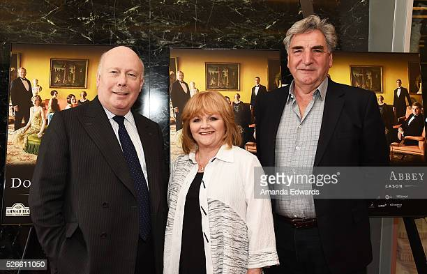 Creator writer and executive producer Julian Fellowes actress Lesley Nicol and actor Jim Carter attend the 'Downton Abbey' For Your Consideration...