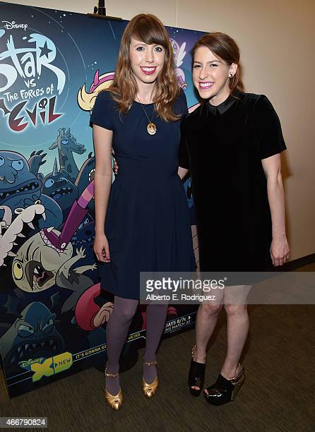 Creator/animator Daron Nefcy and actress Eden Sher attends Disney Television Animation and Women In Animation's screening of Disney's Star Vs The...
