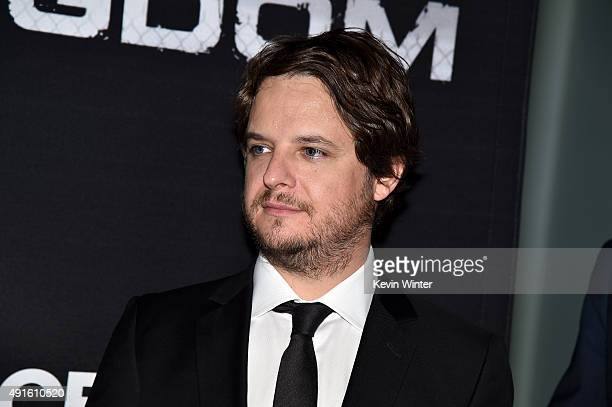 Creator/EP Byron Balasco attends the premiere of DIRECTV's Kingdom Season 2 at SilverScreen Theater at the Pacific Design Center on October 6 2015 in...
