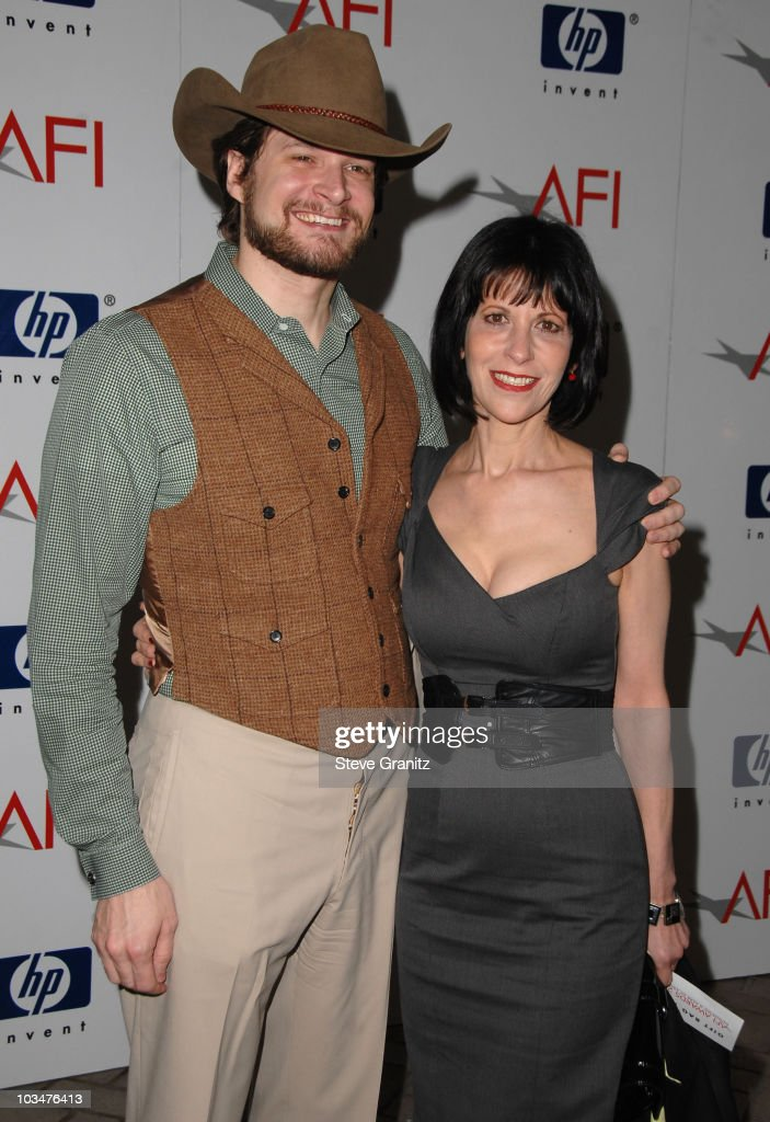 Creator/Exec. Producer Bryan Fuller and Actress Ellen Greene arrives at the 2008 AFI Luncheon held at the Four Seasons Hotel on January 11, 2008 in Los Angeles, California.