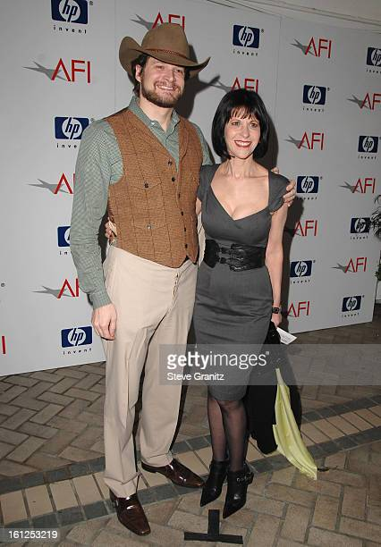Creator/Exec Producer Bryan Fuller and Actress Ellen Greene arrives at the 2008 AFI Luncheon held at the Four Seasons Hotel on January 11 2008 in Los...