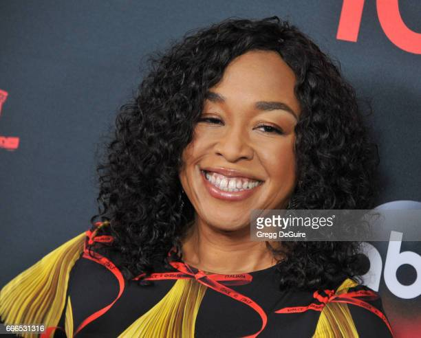 Creator/exective producer Shonda Rhimes arrives at ABC's 'Scandal' 100th Episode Celebration at Fig Olive on April 8 2017 in West Hollywood California