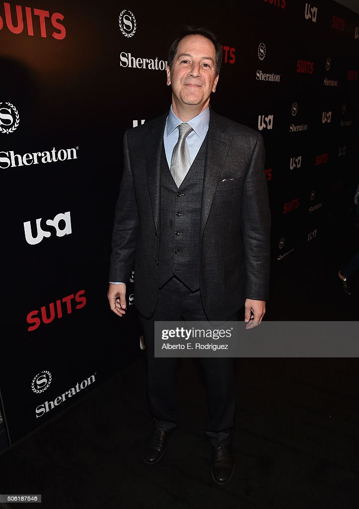 Creator/executive producer Aaron Korsh attends the premiere of USA Network's 'Suits' Season 5 at the Sheraton Los Angeles Downtown Hotel on January 21, 2016 in Los Angeles, California.