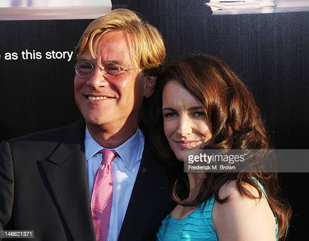 Creator/executive producer Aaron Sorkin and actress Kristin Davis attend the Premiere Of HBO's The Newsroom at the ArcLight Cinemas Cinerama Dome on...