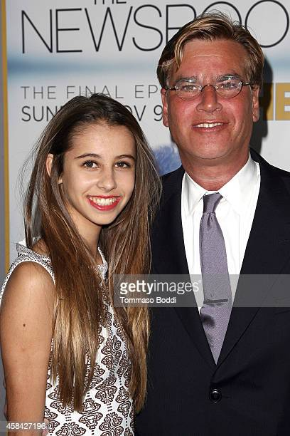"""Creator/executive producer Aaron Sorkin and Roxy Sorkin attend the Los Angeles season 3 premiere of HBO's series """"The Newsroom"""" held at the DGA..."""