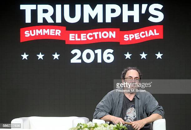 Creator/executive producer and voice of 'Triumph the Insult Comic Dog', Robert Smigel speaks onstage at the 'Triumph's Summer Election Special 2016'...