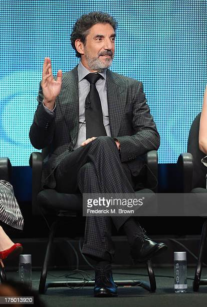 Creator/executive producer Chuck Lorre speaks onstage during the 'Mom' panel discussion at the CBS Showtime and The CW portion of the 2013 Summer...