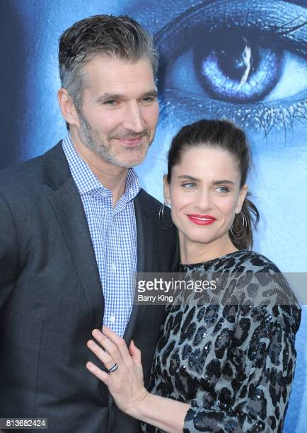 Creator/executive producer David Benioff and actress Amanda Peet attend the Premiere of HBO's 'Game Of Thrones' Season 7 at Walt Disney Concert Hall...