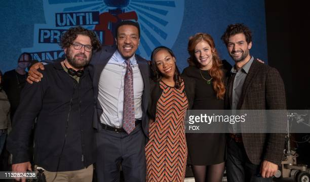 Creator/Executive producer David Elliot Russell Hornsby Nikki M James Rachelle Lefevre and guest star David Alpay behind the scenes in the Pilot...