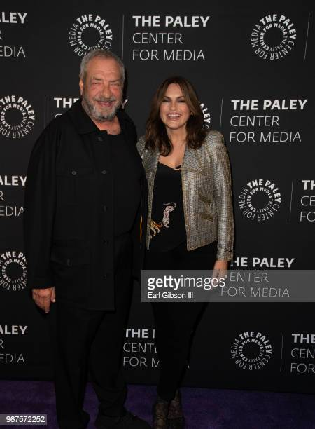 Creator/Executive Producer Dick Wolf and Executive Producer Mariska Hargitay attend The Paley Center For Media Presents Creating Great Characters...