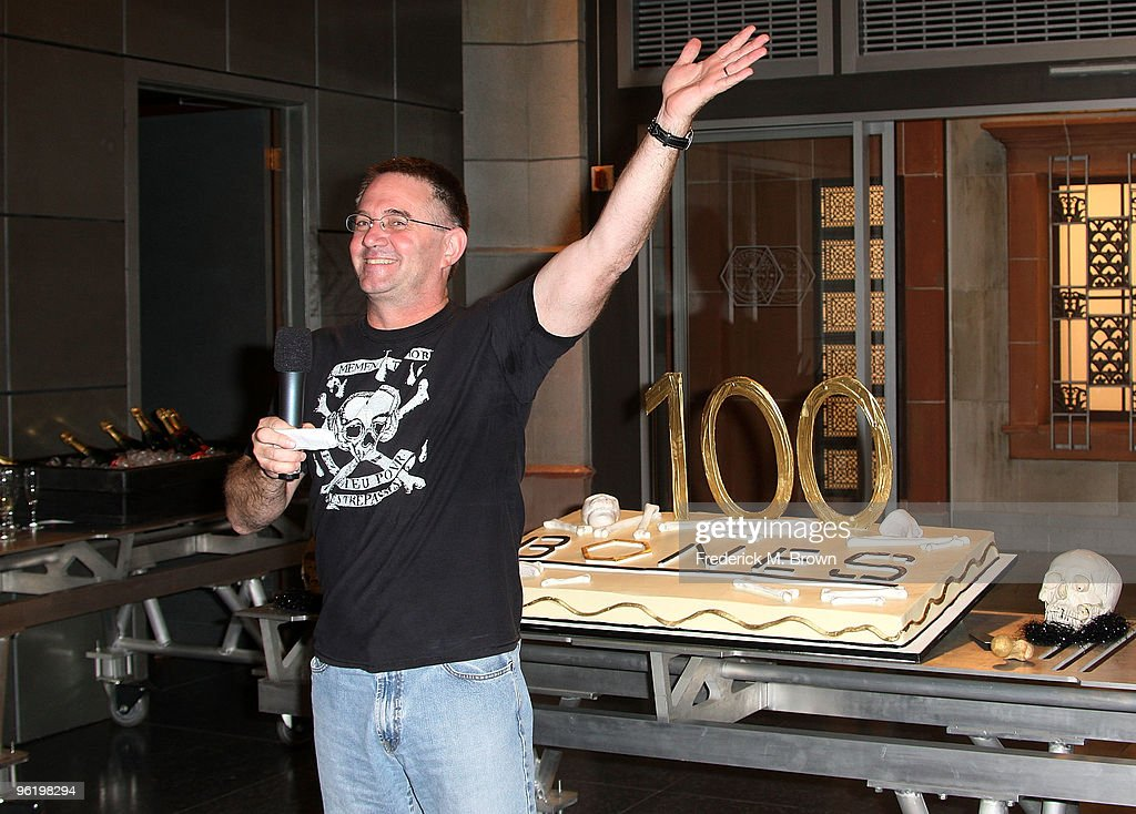 Creator/executive producer Hart Hanson speaks during the 100th Episode celebration of the television show 'Bones' at Fox Studios on January 26, 2010 in Los Angeles, California.