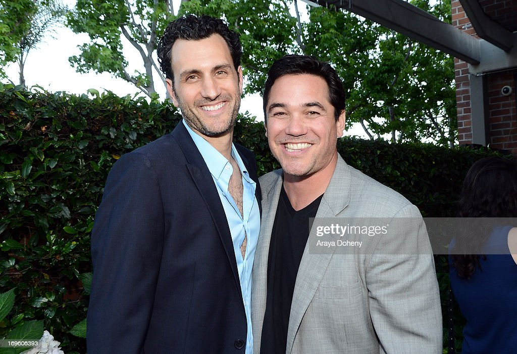 Creator/executive producer James LaRosa (L) and actor Dean Cain attend VH1's 'Hit The Floor' screening at Tiato on May 28, 2013 in Santa Monica, California. V_HTF_05_26_13_0326.JPG