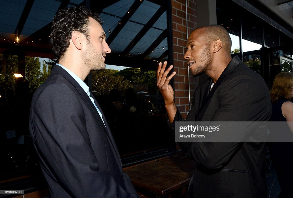 Creator/executive producer James LaRosa (L) and actor McKinley Freeman attend VH1's 'Hit The Floor' screening at Tiato on May 28, 2013 in Santa Monica, California. V_HTF_05_26_13_0265.JPG