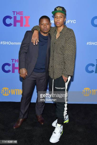 Creator/Executive producer Lena Waithe and actor Jason Mitchell attend Showtime's The Chi For Your Consideration at Silver Screen Theater at the...