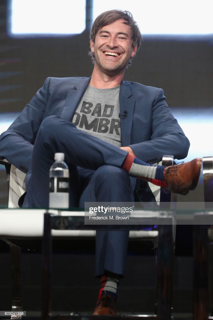 Creator/executive producer Mark Duplass of 'Room 104' speak onstage during the HBO portion of the 2017 Summer Television Critics Association Press Tour at The Beverly Hilton Hotel on July 26, 2017 in Beverly Hills, California.