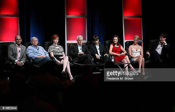Creator/executive producer Matthew Weiner and the cast of Mad Men speak during day two of the AMC Channel 2008 Summer Television Critics Association...