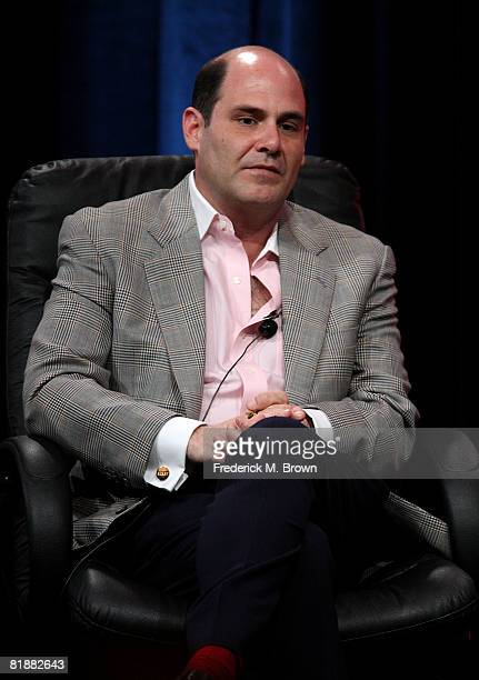Creator/executive producer Matthew Weiner of Mad Men speaks during day two of the AMC Channel 2008 Summer Television Critics Association Press Tour...