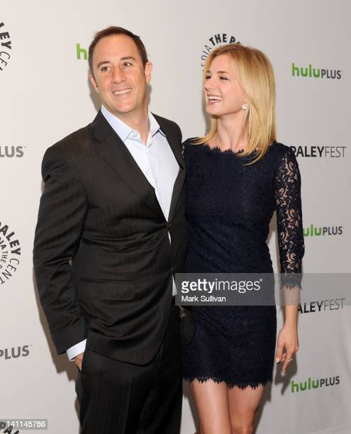 """Creator/executive producer Mike Kelley and actress Emily VanCamp attend PaleyFest 2012 Presents """"Revenge"""" at Saban Theatre on March 11, 2012 in..."""