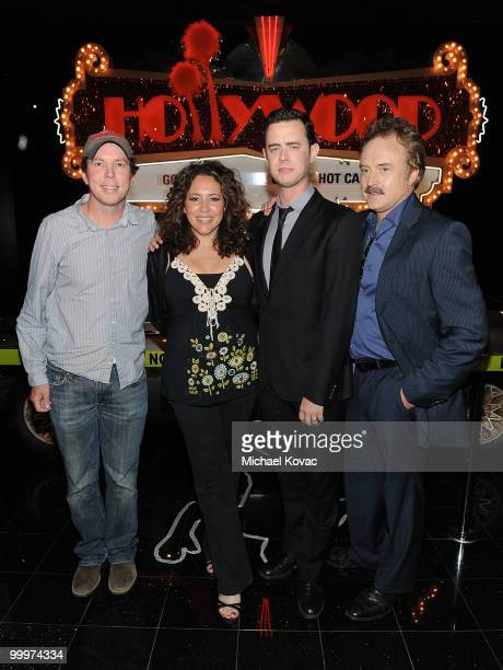 """Creator/executive producer of """"The Good Guys"""" Matt Nix, actress Diana-Maria Riva, actor Colin Hanks and actor Bradley Whitford attend the opening..."""