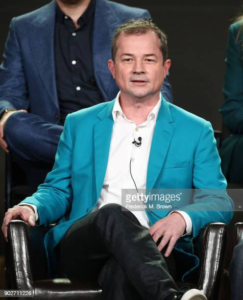 Creator/executive producer Paul William Davies of the television show For The People speaks onstage during the ABC Television/Disney portion of the...