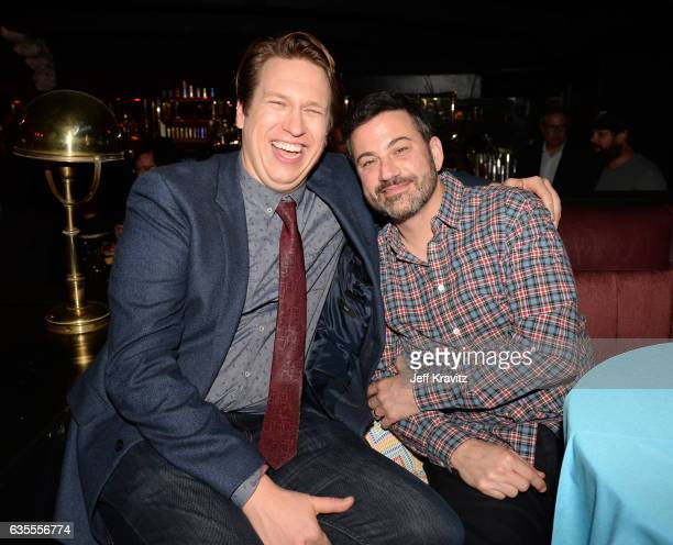 Creator/Executive Producer Pete Holmes and TV personality Jimmy Kimmel attend HBO's Crashing premiere and after party on February 15 2017 in Los...