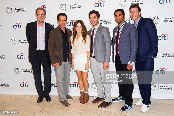 Creator/executive producer Rob Greenberg and actors Tony Shalhoub Rebecca Breeds Chris Smith Kal Penn and Jerry O'Donnell attend PaleyFestPreviews...
