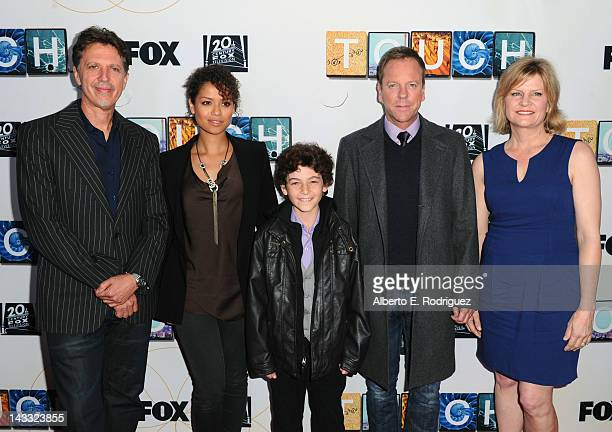 Creator/executive producer Tim Kring actors Gugu MbathaRaw David Mazouz Kiefer Sutherland and executive producer Carol Barbee arrive to a special...