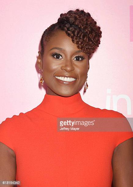 Creator/executive producer/actress Issa Rae attends the premiere of 'Insecure' at Nate Holden Performing Arts Center on October 6 2016 in Los Angeles...